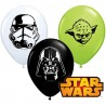"Globos de 5"" Stars Wars Caras Qualatex"