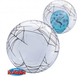 """Globos de foil de 24"""" Bubbles Spider Web Transparente"""