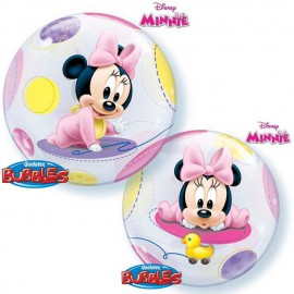 "Globos de 22"" Bubbles Bebe Minnie"