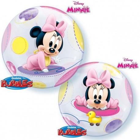 "Globos de foil de 22"" Bubbles Bebe Minnie"