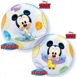"""Globos de 22"""" Bubbles Bebe Mickey"""