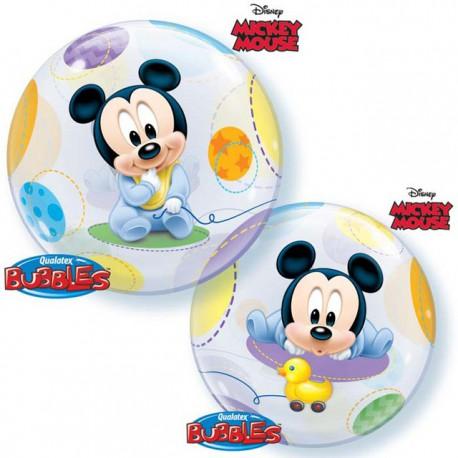 """Globos de foil de 22"""" Bubbles Bebe Mickey"""