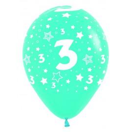 Globos R-12 (30Cm) Número 3