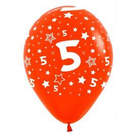Globos R-12 (30Cm) Número 5