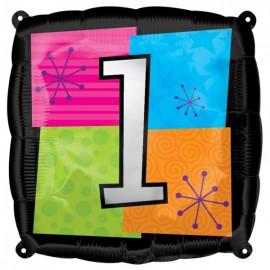 """Globos de foil de 18"""" Número Uno"""