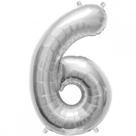 """Globos de Foil de 16"""" (41cm) Numero """"6"""""""