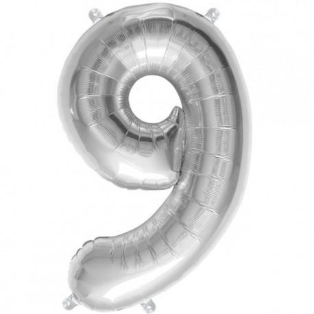 """Globos de Foil de 16"""" (41cm) Numero """"9"""""""