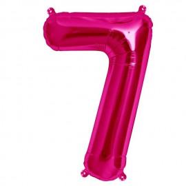 """Globos de Foil de 16"""" (41cm) Numero """"7"""" Magenta"""