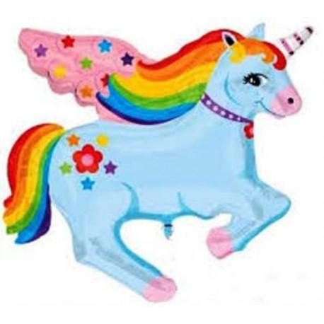 Globos de foil Supershape Unicornio fantasia