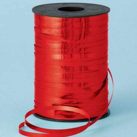 Cinta curling 5mm x 250m color Rojo Metalico