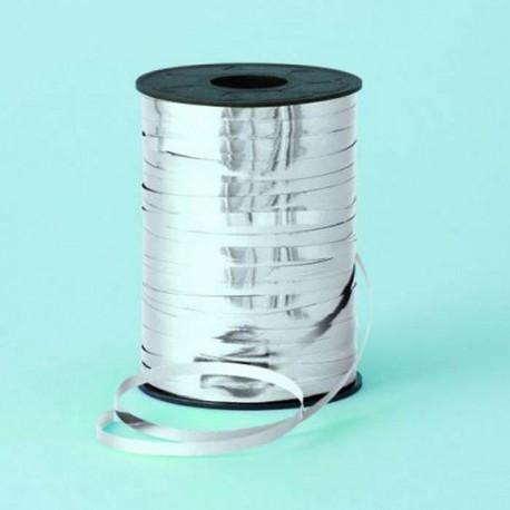 Cinta curling 5mm x 250m color Plata Metalico