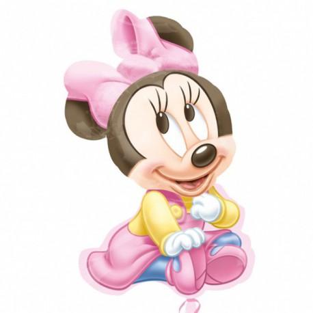 "Globos de foil supershape de 33"" X 20"" Baby Minnie"