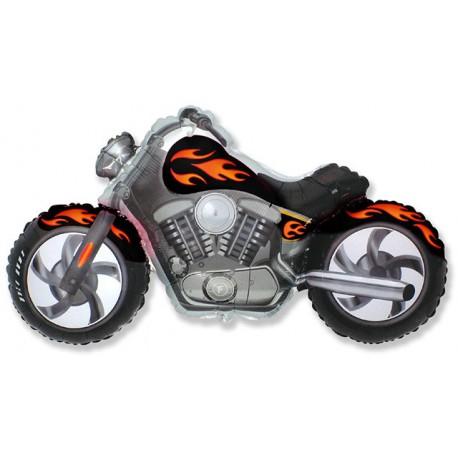 Globos de foil Supershape Moto Custom Negra