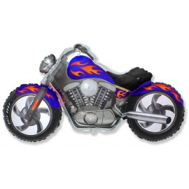 Globos de foil Supershape Moto Custom Azul