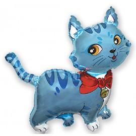 Globos de foil Minishape de 33cm x 33cm Gato Azul