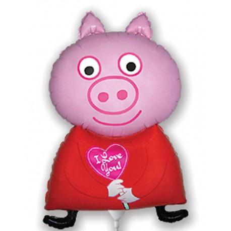 """Globos de foil Mini de 13"""" X 8"""" Piglet Pig"""
