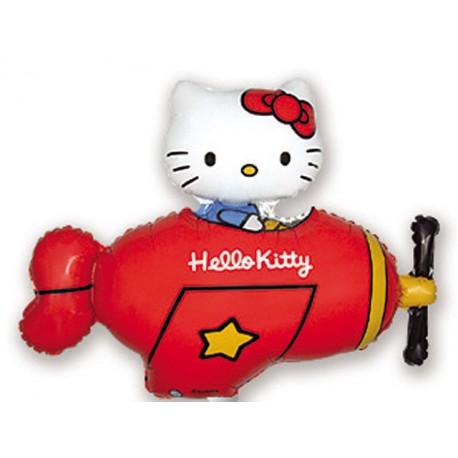 """Globos de foil Mini de 14"""" X 12"""" Kitty Avioneta Roja"""