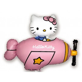 "Globos de foil Mini de 14"" X 12"" Kitty Avioneta Rosa"