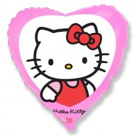 """Globos de Foil Corazón de 18"""" (46Cm) Hello Kitty"""