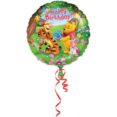 "GLOBO DE FOIL DE 18"" POOH HAPPY BIRTHDAY"