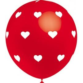 """Globos de 12"""" Corazones Cool Rojo Balloonia"""