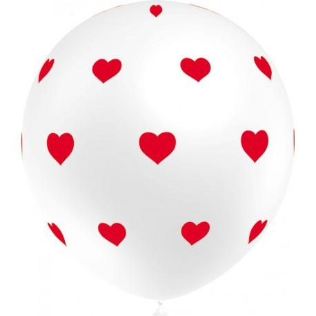 """Globos de 12"""" Corazones Cool Blanco Balloonia"""