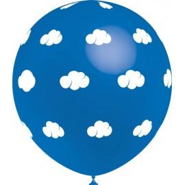 """Globos de 12"""" Nubes Azul Balloonia"""