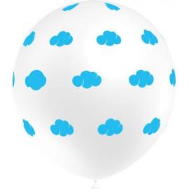 """Globos de 12"""" Nubes Blanco Balloonia"""