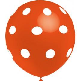 "Globos de 12"" Naranja Lunares Balloonia"
