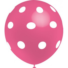 """Globos de 12"""" Rosa Lunares Balloonia"""