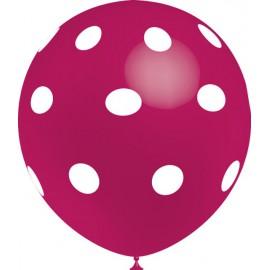 """Globos de 12"""" Fucsia Lunares Balloonia"""