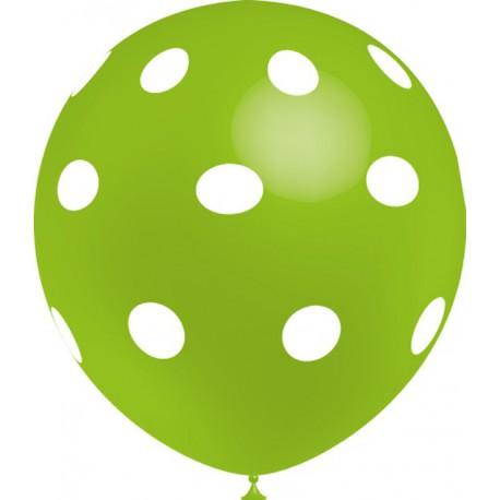 """Globos de 12"""" Verde Lima Lunares Balloonia"""
