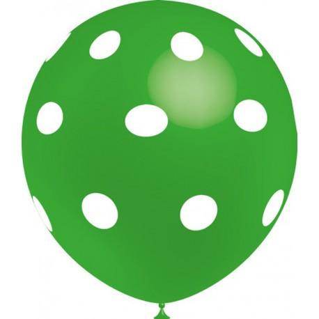 """Globos de 12"""" Verde Lunares Balloonia"""