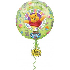 "GLOBO DE FOIL DE 36"" MUSICAL WINNIE HAPPY BIRTHDAY"