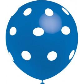 """Globos de 12"""" Azul Lunares Balloonia"""