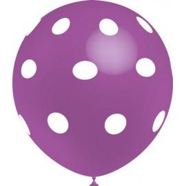 """Globos de 12"""" Lavanda Lunares Balloonia"""