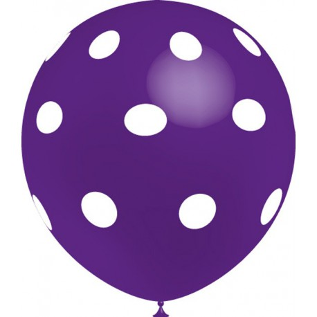 "Globos de 12"" Purpura Lunares Balloonia"