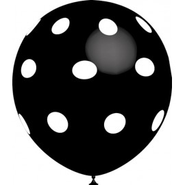 """Globos de 12"""" Negro Lunares Balloonia"""