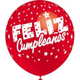"""Globos de 12"""" Feliz Cumpleaños Balloonia"""