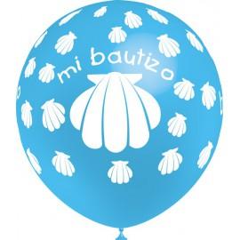 """Globos de 12"""" Bautizo Niño Balloonia"""