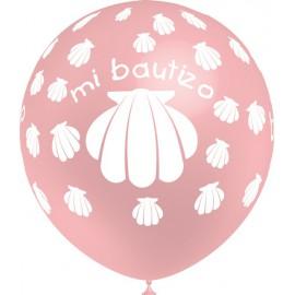"""Globos de 12"""" Bautizo Niña Balloonia"""