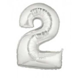 """Globos de Foil de 7"""" (18cm) Numero 2"""