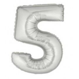 """Globos de Foil de 7"""" (18cm) Numero 5"""