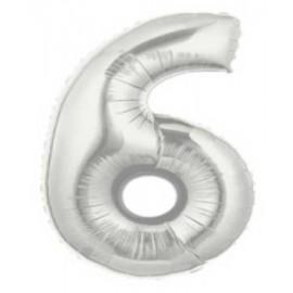 """Globos de Foil de 7"""" (18cm) Numero 6"""