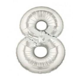 """Globos de Foil de 7"""" (18cm) Numero 8"""