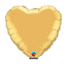 """Globos de foil Corazones de 18"""" Oro qualatex"""