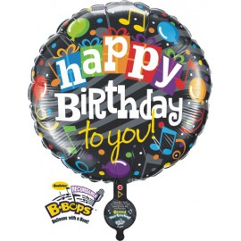 "Globos de foil de 31"" B-BOP happy birthday"