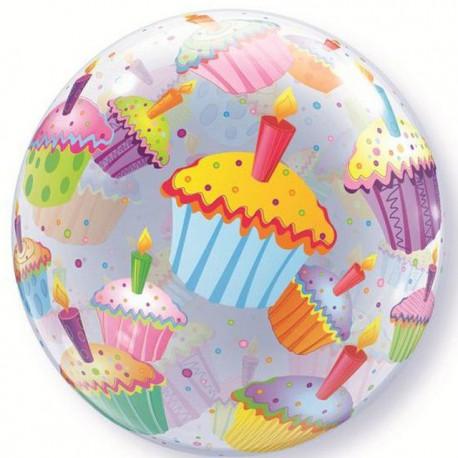 """Globos de foil de 22"""" Bubbles Cupcakes"""