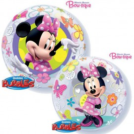 """Globos de 22"""" Bubbles Minnie Bowtique"""