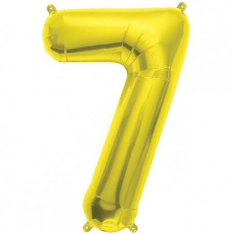 "Globos de Foil de 16"" (41cm) Numero ""7"" Oro"